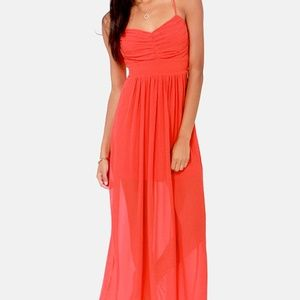 Lulu's Pleats Don't Leave Me Maxi Dress